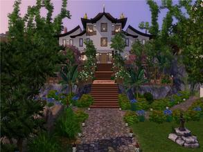 Sims 3 — Celestial Draggon by NiniBeMe692 — Carved into the mountain side, perched on stepping plains, Celestial Dragon