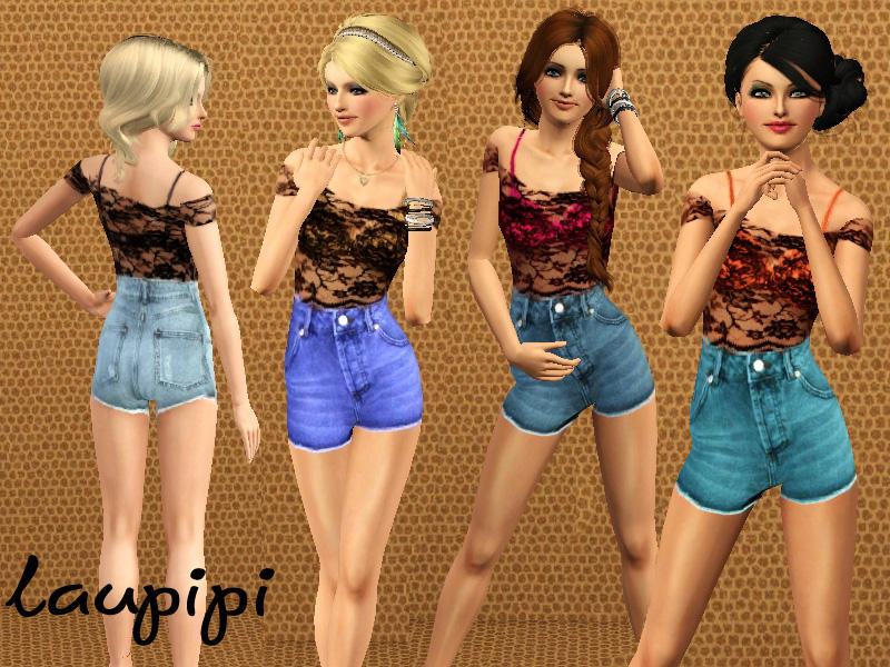 Sims 3 High Waisted Shorts lp High Waisted Shorts Outfit