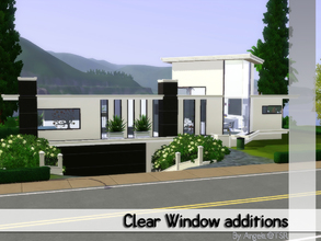 Sims 3 — Clear Window Additions by Angela — An addition to the clear window. Made as a request for Madden, this set
