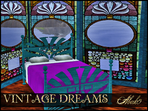 Sims 3 — VINTAGE DREAMS by abuk0 — get a touch of art nuveau in your sims house......or very colorful stained glass