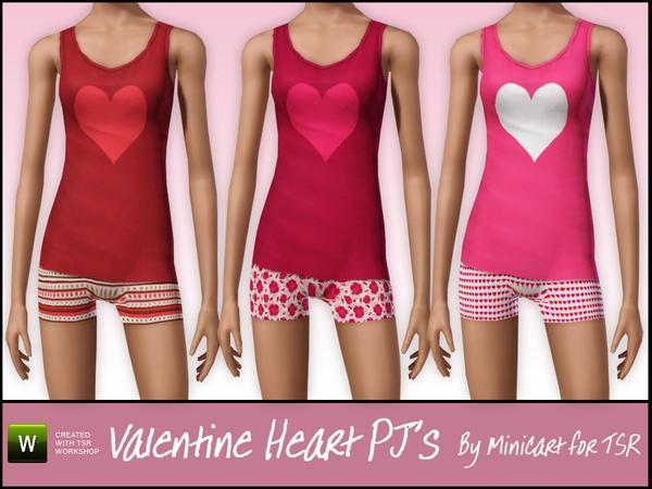 Valentine Heart PJ's  W-600h-450-2007212