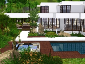 Sims 3 — Sunrise Avenue 129  furnished by sinhhala — A modern, yet classic residence, water surrounded. This time