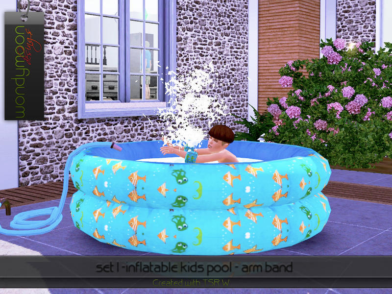 Wondymoon 39 s inflatable kids pool arm band for Sims 3 pool design