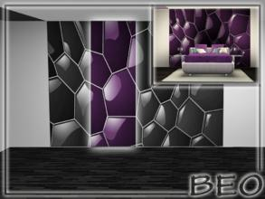 Sims 3 — 2 part abstract wall panel by BEO — 2 part abstract wall panel. All 4 parts. Wall panel placed in the section