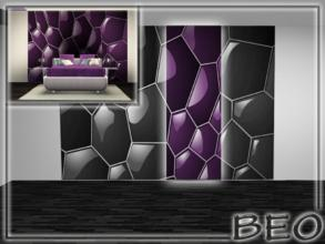 Sims 3 — 3 part abstract wall panel by BEO — 3 part abstract wall panel. All 4 parts. Wall panel placed in the section