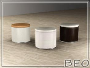 Sims 3 — Pouf modern by BEO — Pouf modern in 3 variants. Recolorable 3 canals.