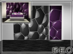 Sims 3 — 4 part abstract wall panel by BEO — 4 part abstract wall panel. All 4 parts. Wall panel placed in the section