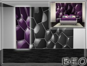 Sims 3 — 1 part abstract wall panel by BEO — 1 part abstract wall panel. All 4 parts. Wall panel placed in the section