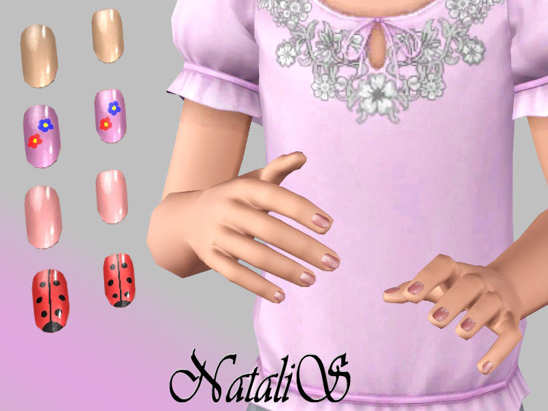 NataliS\' Short polished nails for Child ( CF)