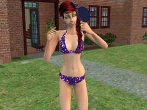 Sims 2 — Glitter swimwear by Silerna — Sparky and glamorous swimwear for your female sims.