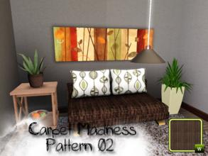 Sims 3 —  by SugoiZiua2 — Carpet Madness Pattern n02 You can find it under Weave and wicker patterns.
