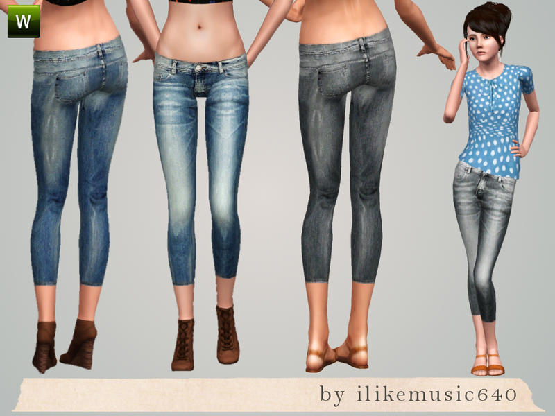 ILikeMusic640's Cropped Skinny Jeans AF