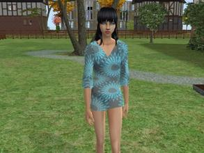 Sims 2 — Swirly swimwear by Silerna — Lovely outfit for your female teens!