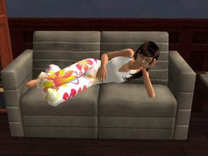 Sims 2 — Flower PJ\'s by Silerna — Natural PJ\'s for adults females