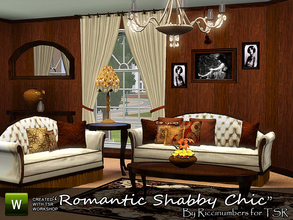 Sims 3 — Romantic Shabby Chic Living by TheNumbersWoman — By request the Romantic Side of Shabby Chic. The first in the