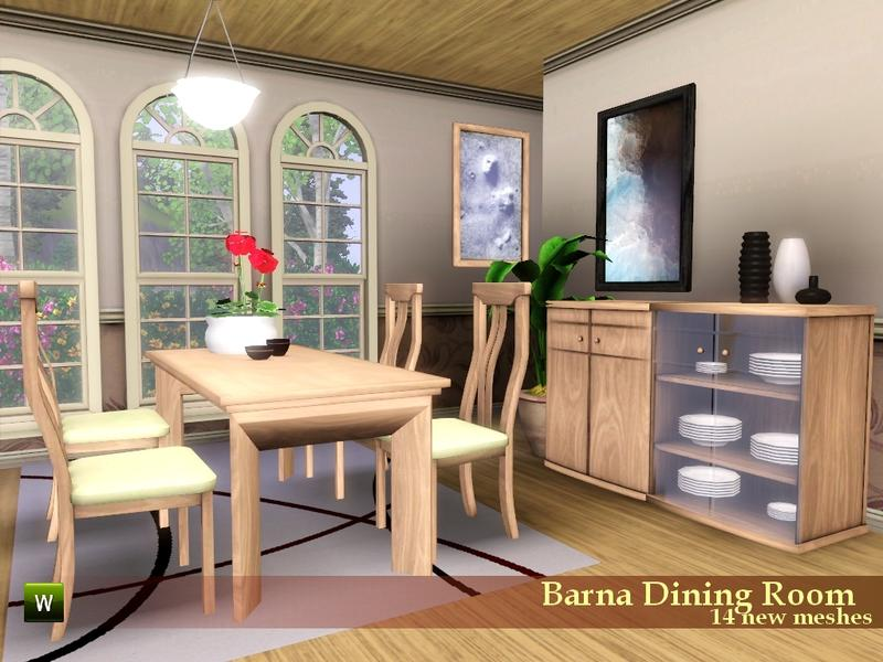 Flovv 39 s barna dining room for Sims 3 dining room ideas