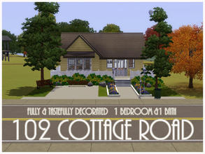 Sims 3 — 102 Cottage Road by sims_freak_2008 — This is just a breath taking home for a Sim couple. The house features 1