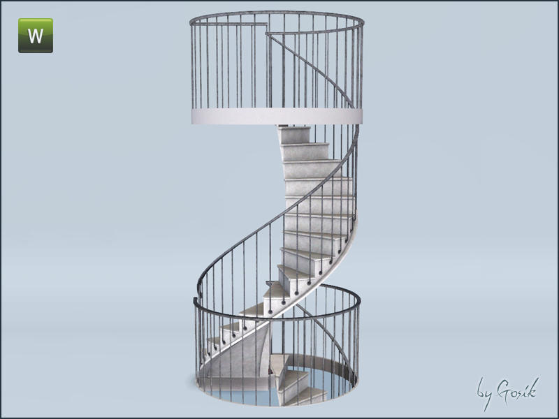 Gosik's Urban spiral stairs and railings