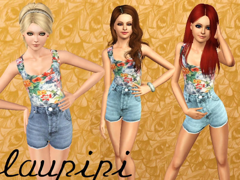 Sims 3 Downloads - 'high waisted shorts'