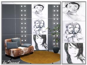 Sims 3 — One-piece Wall Panel-N2 by TugmeL — One-piece Miscellaneous wall panel. *it's location: Build Mode + Wall