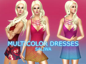 Sims 3 — Multi Color Summer Dress  by saliwa — Multi Color Summer Dresses for Everyday and Formal Clothing. Recolor this