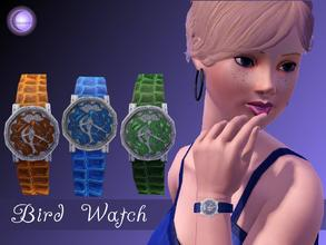 Sims 3 — D2DBlue Bird Watch by D2Diamond — Lovely lady's watch with a gemstone bird design. Come in three different color