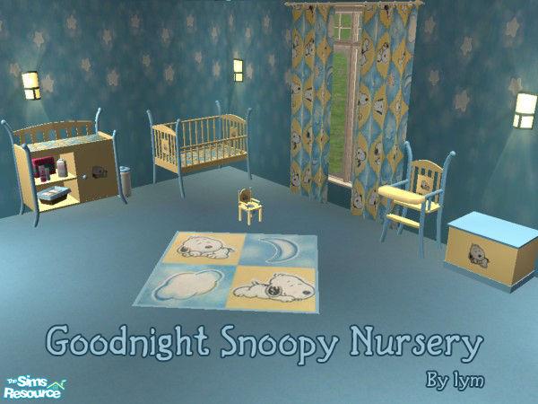 Goodnight Snoopy Nursery