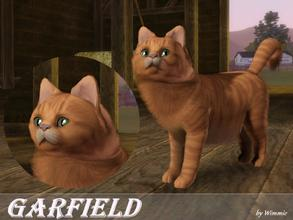 Sims 3 — Garfield by Wimmie — Hi, this is my new cat and I think he's looking a bit like Garfield ! Thank you for