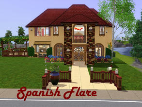 Sims 3 — Spanish Flare by spitzmagic — Spanish Flare a small family home with 2 bedrooms 1 bathroom. It has a small patio