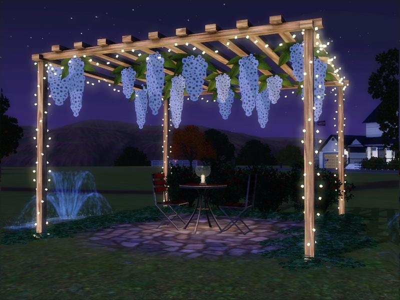 String Lights Sims 4 : sim_man123 s Hawthorne Patio Set