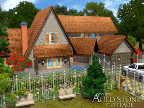 Sims 3 — Old Stone Cottage -Furnished- by ayyuff — Fully furnished and decorated house with 3 bedrooms,2 bathrooms.