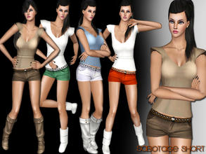 Sims 3 — [S] Little Denim Short by saliwa — Daily Little Denim Shorts for Everyday Clothing with New Mesh by Saliwa.