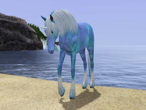 Sims 3 — Lady Ariel stunning blue Unicorn by Tazm1n2 — Beautiful blue unicorn with hints of purple, this was created by