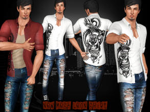 Sims 3 — [S] Leon Shirt by saliwa — Daily Leon Art Included Shirts with Tank Top and New Mesh by Saliwa