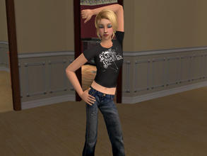 Sims 2 — Evanescence shirt by Silerna — for female teens