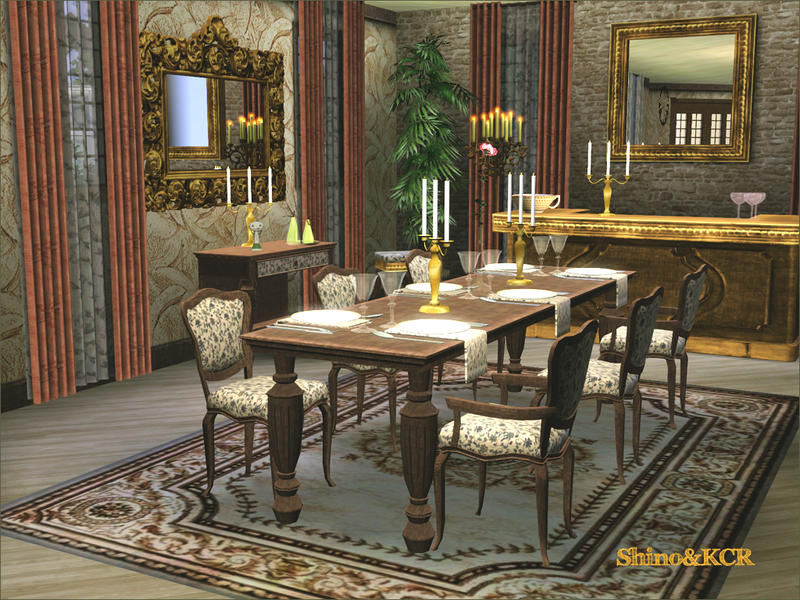 Shinokcr 39 s elegant dining for Sims 3 dining room ideas