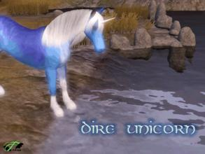 Sims 3 — Sleipnir Orion by Fonduu2 — The foal of my unicorn and Dire Horse. He grew up and I thought he came out