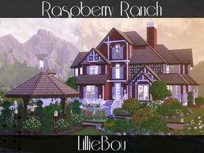 Sims 3 — Raspberry Ranch by lilliebou — Hi ! This ranch is for a family of about 6 sims. There are two boxes for horses,