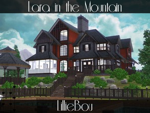 Sims 3 — Lara in the Mountain by lilliebou — Hi ! This house is for a family of about 7 Sims. First floor: -Kitchen and