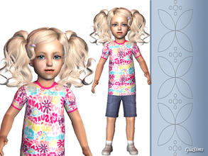 Sims 2 — Short set for toddler by giasims — Short set for toddler