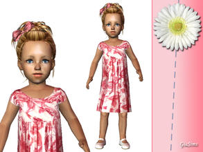 Sims 2 — Three summer dresses for toddlers - 5fd48cf8 April28dress3 by giasims — Pink wrap dress