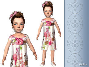 Sims 2 — Three summer dresses for toddlers - 5f372609 April28dress7 by giasims — White Flower dress