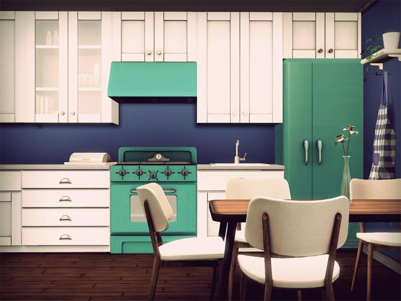 back to retro kitchen