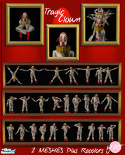 Sims 2 — Tragic Clown by DOT — Tragic Clown. Decorative. 2 Meshes Plus Recolors. Sims 2 by DOT of The Sims Resource.