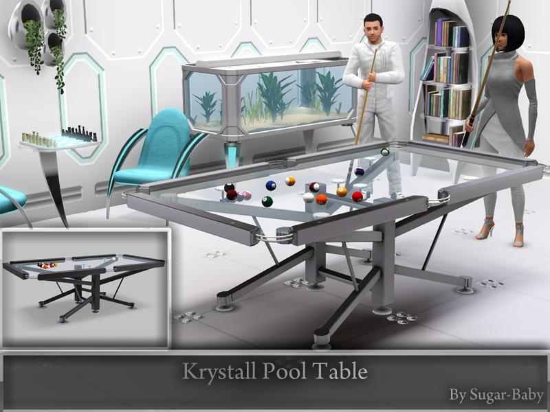 Sugar baby756 39 s krystall pool table for Pool design sims 3