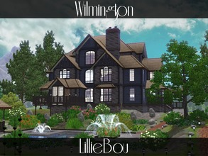Sims 3 — Wilmington by lilliebou — Hi ! This house is for a family of about 8 Sims. First floor: -Kitchen -Dining room
