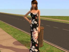 Sims 2 — Floral Dress by Silerna — A floral and chique dress for adult females