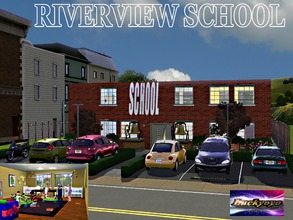 Sims 3 — Riverview School Updated - By Luckyoyo. by luckyoyo — Riverview school has one class room with computers and a
