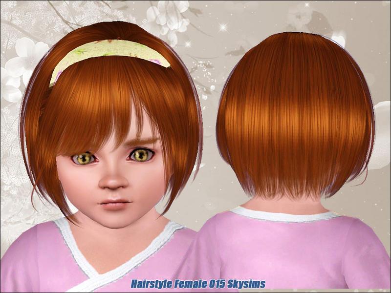 3 Hairstyles For Short Hair: Free Skysims Hair 015