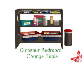 Sims 2 — Dinosaur Bedroom - Change Table by sinful_aussie — Dinosaur bedroom/nursery for boys. Recolor of NoFrills